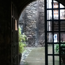 One of the oldest courtyard gardens near to Edinburgh Castle