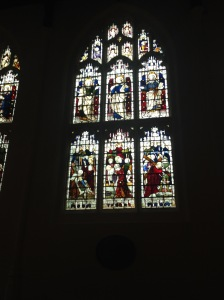 Susanna window Bury Abbey