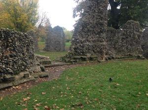 Abbey ruins, Bury